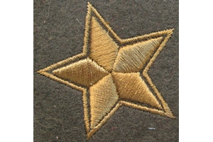 WW2 Pair of sleeve insignia field star commanders of the infantry of the red army type 1940 Repro