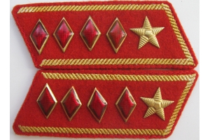 Buttonholes commander of the 1st rank, Red Army, type 1935, Repro