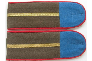 WW2 Shoulder straps junior officers Tuvan People's Revolutionary Army 1943 type, Replica