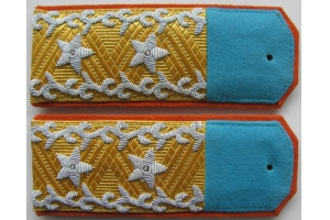 WW2 Shoulder straps sample Tuvan People's Revolutionary Army lieutenant-general 1943 type Replica