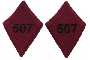 Buttonholes 507 of the infantry regiment 1918 type on a greatcoat Red Army Replica