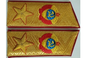 Front shoulder straps on the uniform of Marshal of the Soviet Union, type 1974, Repro