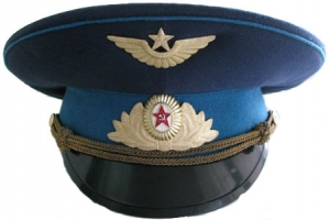The main one is the output cap officers and soldiers of extended service Aviation 1976 type, Soviet Union, Replica