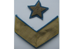 Set of stars and shoulder patches on the uniform of General Aviation of the red army 1940 type, WW2, Replica