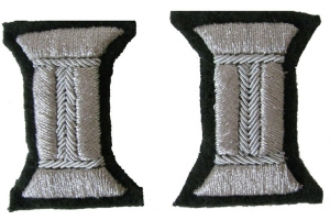 A pair of silver coil cuffs for the sleeves of the ceremonial uniform of Junior or senior officers Red Army, WW2, Repro