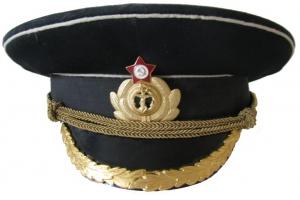 Фуражка офицерская ВМФ СССР, повседневная, плавсостав (береговой состав)