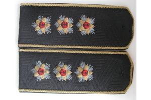 Повседневные погоны на китель Адмирала Флота к закрытому кителю, копия