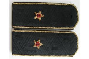 Повседневные погоны на китель контр-адмирала Флота СССР  к закрытому кителю, копия