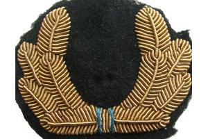 Кокарда нашивная офицерского состава на фуражку, Авиации ВМФ, СССР, копия