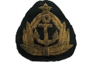 Эмблема шитая к головному убору командного состава морского транспорта, образца 1975 года