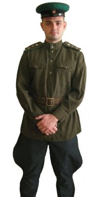 Форма офицерского состава пограничных войск  НКВД СССР образца 1943 года, СССР, копия