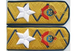 Погоны генерального комиссара госбезопасности образца 1943 г (погоны Берии), СССР , копия