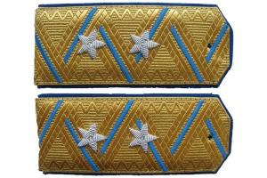 Погоны комиссара ГБ 3-го ранга образца 1943 года , затем - Погоны генерал-лейтенанта ГБ образца 1945 года ( от 6.07.1945 г ,СССР, копия