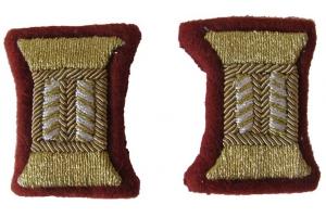 Пара катушек для парадного мундира младших офицеров НКВД, внутренние войска, СССР, копия