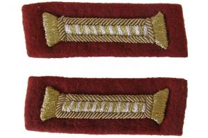 Петлицы для парадного мундира младших офицеров НКВД, внутренние войска, СССР, копия