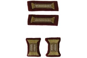 Комплект знаков различия для парадного мундира младших офицеров НКВД, внутренние войска, СССР, копия