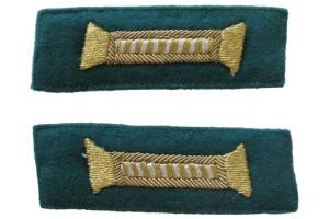 Петлицы для парадного мундира младших офицеров НКВД, пограничные войска, СССР, копия