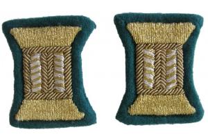 Пара золотистых катушек для обшлагов рукава парадного мундира, младших или старших офицеров НКВД, пограничные войска, СССР, копия