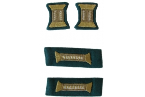 Комплект знаков различия для парадного мундира младших офицеров НКВД, пограничные войска, СССР, копия