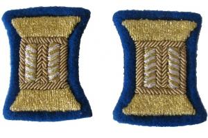 Пара золотистых катушек для обшлагов рукава парадного мундира, младших или старших офицеров НКВД, госбезопасность , СССР, копия