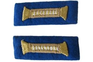 Пара петлиц для парадного мундира младших офицеров НКВД, госбезопасность, СССР, копия