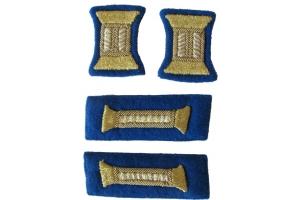 Комплект знаков различия для парадного мундира младших офицеров НКВД, госбезопасность, СССР, копия