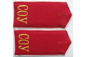 Погоны воспитанников Саратовского офицерского училища, образца 1943 года, СССР, копия