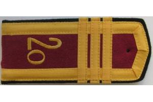 Погоны курсантов второго Омского Краснознамённого пехотного училища имени М.В. ФРУНЗЕ образца 1956 года, СССР, копия