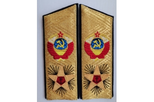 Ceremonial Shoulder straps Admiral of the Fleet of the Soviet Union, Replica