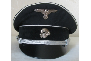 Cap Vizor Cap Allgemeine SS officer (Germany) Replica High quality Handmade