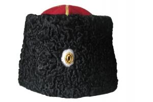 Папаха казачья с офицерской кокардой натуральный каракуль